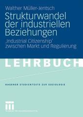 Strukturwandel der industriellen Beziehungen: 'Industrial Citizenship' zwischen Markt und Regulierung