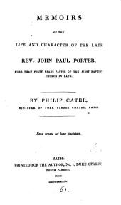 Memoirs of the life and character of ... John Paul Porter