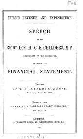Public revenue and expenditure, speech