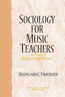Sociology for Music Teachers PDF
