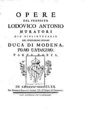 Opere del proposto Lodovico Antonio Muratori: Volume 11,Parte 3