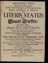 Theses selectiores ex materia de literis status, von Staats-Brieffen