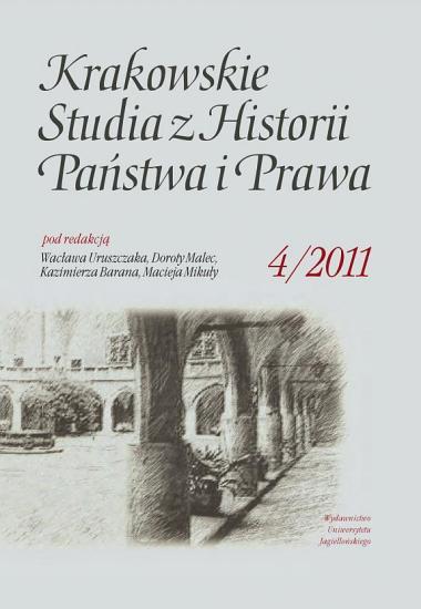 Krakowskie Studia z Historii Pa  stwa i Prawa Tom 4  2011  PDF