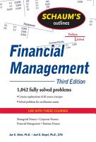 Schaum s Outline of Financial Management  Third Edition PDF