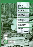 FAO Yearbook of Forest Products  1998 PDF