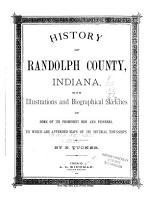 History of Randolph County  Indiana PDF