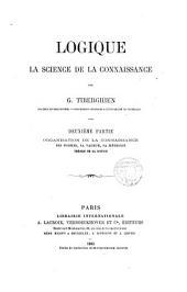 Logique: la science de la connaissance