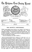 The Religious Tract Society Record Of Work At Home And Abroad