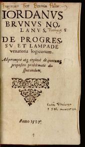 De Progressu et Lampade venatoria Logicorum