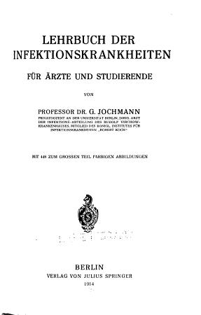 Lehrbuch der Infektionskrankheiten f  Aerzte u  Studierende PDF