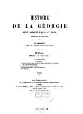 Histoire de la Georgie depuis l'antiquite jusqu'au 19. siecle: Volume5