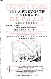 Coustume de la prevosté et vicomté de Paris: Volume2