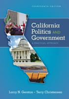 California Politics and Government  A Practical Approach PDF
