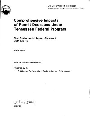 Comprehensive Impacts of Permit Decisions Under Tennessee Federal Program