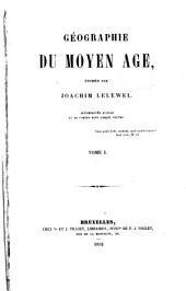 Géographie du moyen âge: Volume1