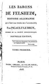Les barons de Felsheim: histoire allemande ...
