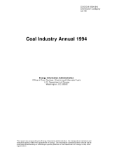 Coal Industry Annual 1994
