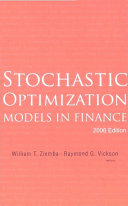 Stochastic Optimization Models in Finance