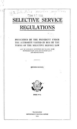 Selective Service Regulations