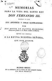 Memorias para la vida del santo rey don Fernando III
