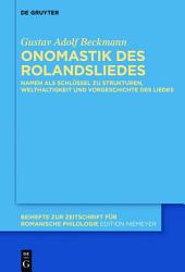 Onomastik des Rolandsliedes PDF