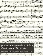 4me. quatuor pour deux violons, alto et violoncelle, op. 64