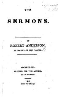 Two Sermons Book