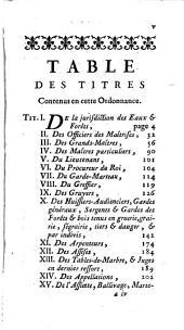 Commentaire sur l'ordonnance des eaux et forêts, du mois d'août, 1669