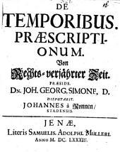 De temporibus praescriptionum, disp