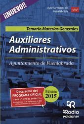 Auxiliares Administrativos del Ayuntamiento de Fuenlabrada. Temario Materias Generales