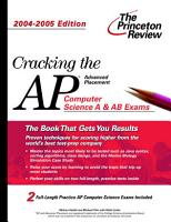 Cracking the AP Computer Science  2004 2005 PDF