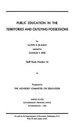 Public Education in the Territories and Outlying Possessions PDF