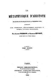 La Métaphysique d'Aristote: Buch 7 - 14, Volume2