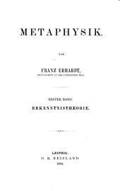 Metaphysik: Band 1