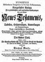 Synopsis bibliothecae exegeticae in Novum Testamentum PDF