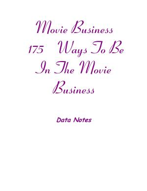 Movie Business  175 Ways to Be in the Movie Business