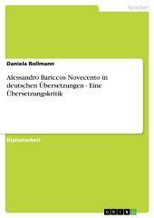 Alessandro Bariccos Novecento in deutschen Übersetzungen - Eine Übersetzungskritik