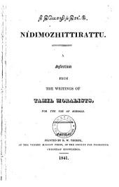 Nītimol̲ittiraṭṭu: a selection from the writings of Tamil moralists for the use of schools