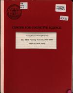 The MIT Parsing Volume, 1988-1989