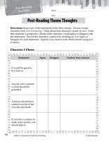 Tuck Everlasting Post Reading Activities PDF