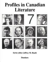 Profiles in Canadian Literature PDF