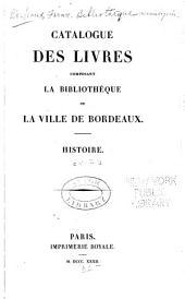 Catalogue Des Livres Composant La Bibliothéque De La Ville De Bordeaux. [5]. Théologie