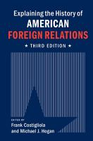Explaining the History of American Foreign Relations PDF
