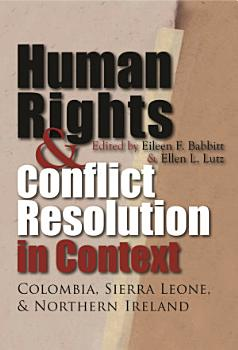 Human Rights and Conflict Resolution in Context PDF