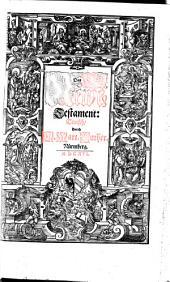 Biblia Das ist, Die gantze Heilige Schrifft, Teutsch: Band 3