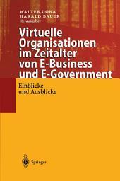 Virtuelle Organisationen im Zeitalter von E-Business und E-Government: Einblicke und Ausblicke