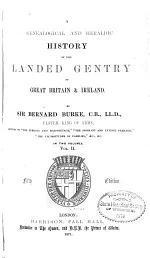 A Genealogical and Heraldic History of the Landed Gentry of Great Britain & Ireland