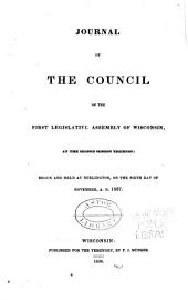 Journal of the Council of the 1838 Legislative Assembly of Wisconsin