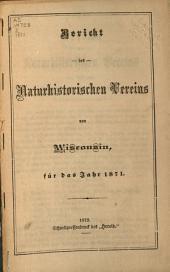 Jahresbericht des naturhistorischen Vereins von Wisconsin: 1871