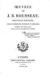 Œuvres de J.B. Rousseau: Volume4